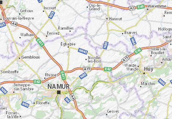 Carte-Plan Noville-les-Bois