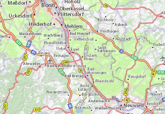 Karte Stadtplan Linz am Rhein