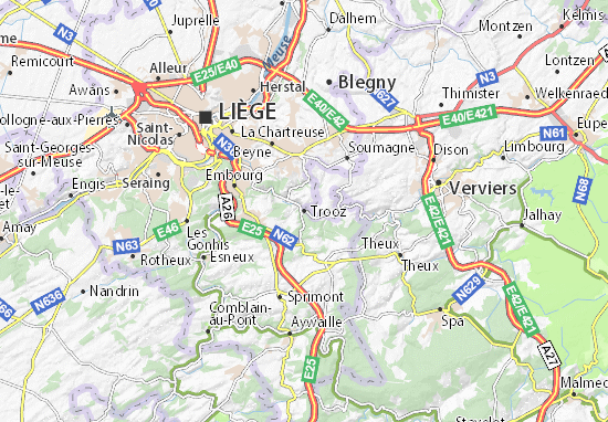 Karte Stadtplan Trooz