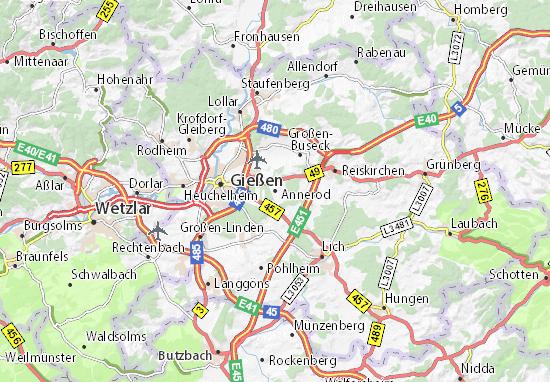 Karte Stadtplan Annerod