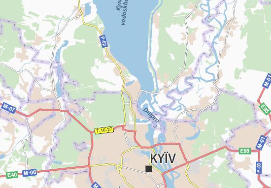 Mapa Plano Vyshhorod