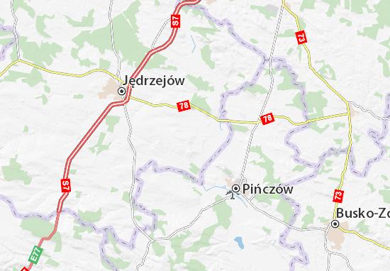 Imielno Map