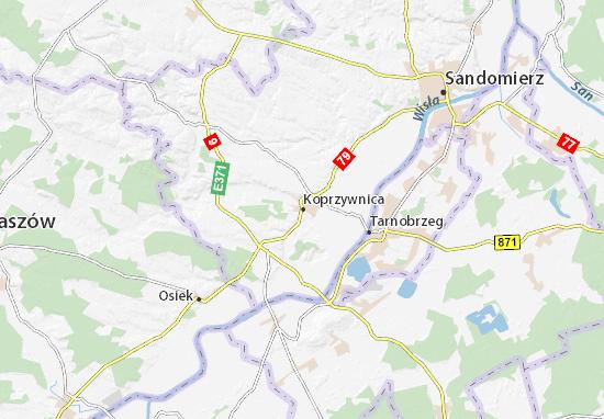 Mapa Koprzywnica