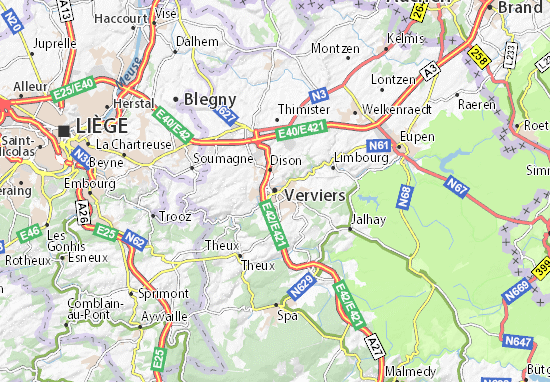 Carte-Plan Verviers