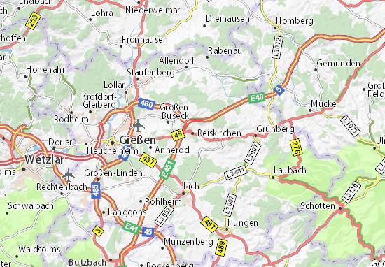Karte Stadtplan Reiskirchen