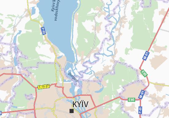 Kaart Plattegrond Khotyanivka