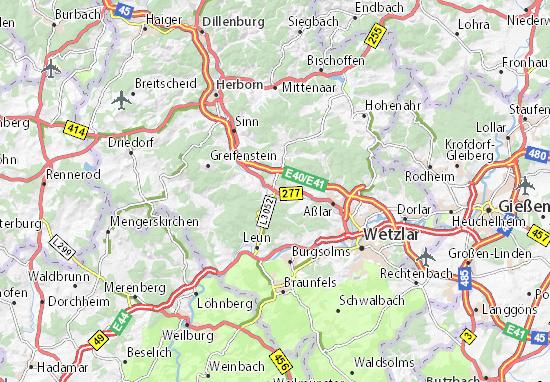 Karte Stadtplan Ehringshausen