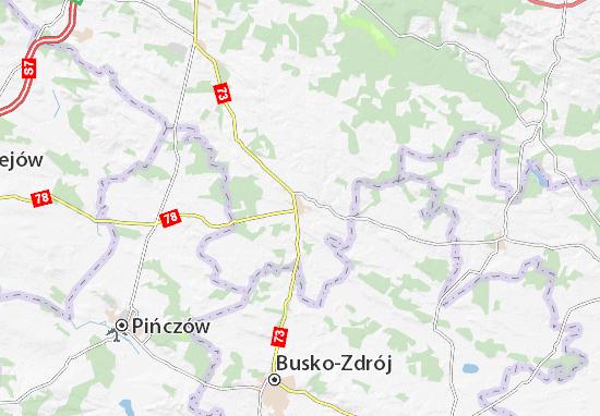 Mapa Chmielnik