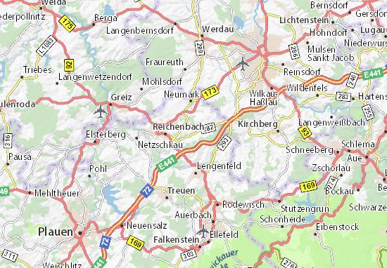 Karte Stadtplan Oberheinsdorf
