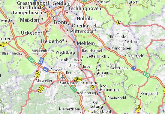 Karte Stadtplan Rheinbreitbach