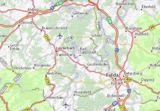 Bad Salzschlirf Map