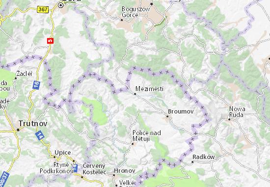Karte Stadtplan Meziměstí