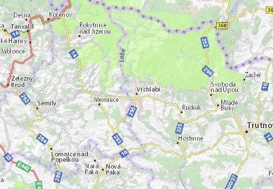 Mapas-Planos Vrchlabí