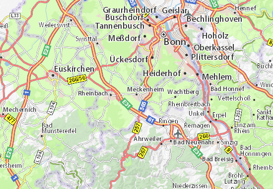 Karte Stadtplan Meckenheim