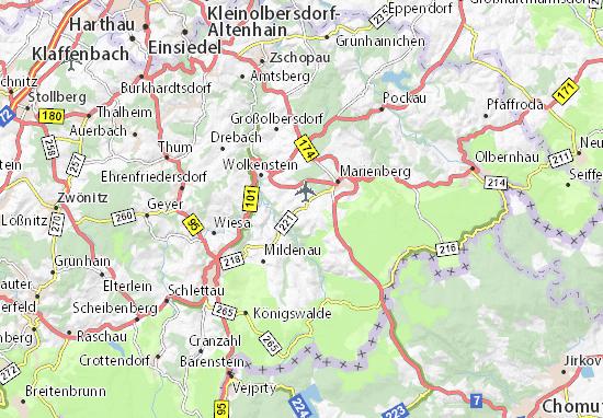 Karte Stadtplan Großrückerswalde