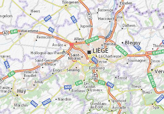Kaart Plattegrond Saint-Nicolas