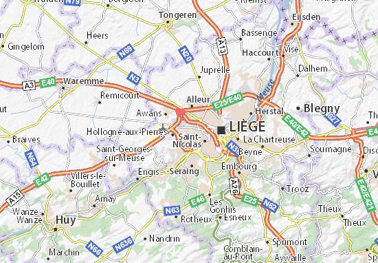 Carte-Plan Grâce-Hollogne