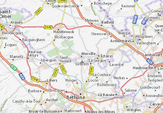Carte-Plan Merville