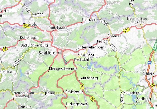 Carte-Plan Kamsdorf