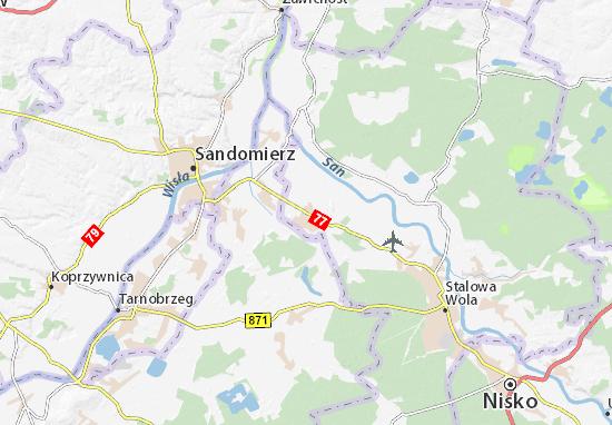 Mapa Zaleszany