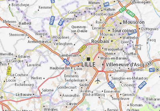 Karte Stadtplan Lambersart