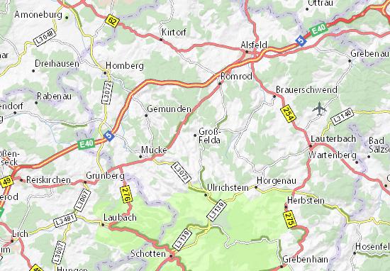 Groß-Felda Map