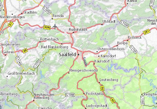 Mapa Plano Saalfeld