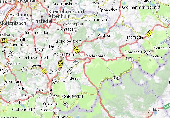 Karte Stadtplan Marienberg