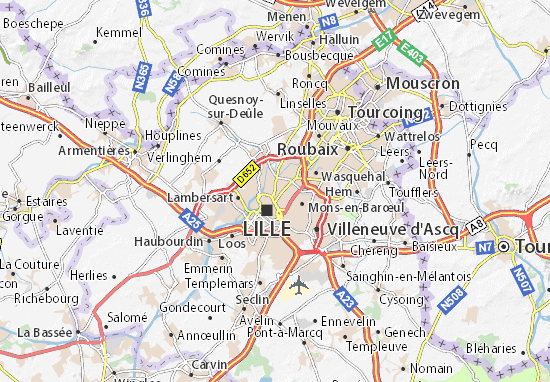 Karte Stadtplan La Madeleine