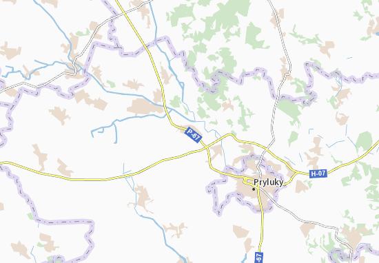 Mapa Plano Tovkachivka