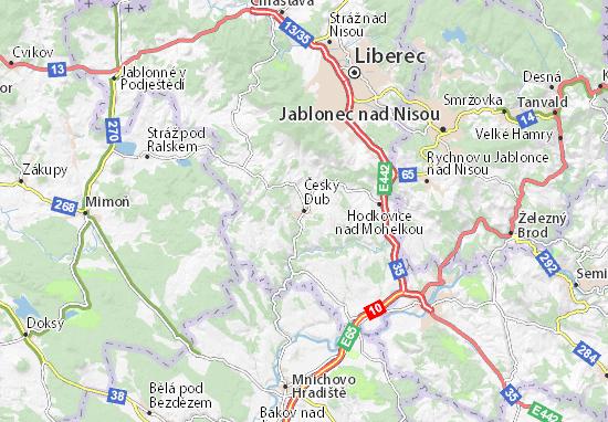 Mapa Plano Český Dub