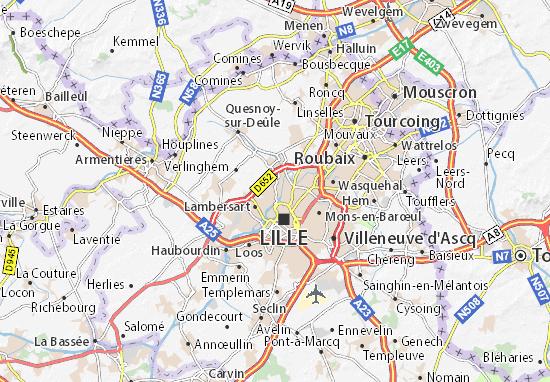 Mapa Plano Saint-André-lez-Lille