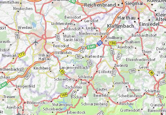 Karte Stadtplan Hartenstein
