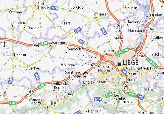 Kaart Plattegrond Fexhe-le-Haut-Clocher