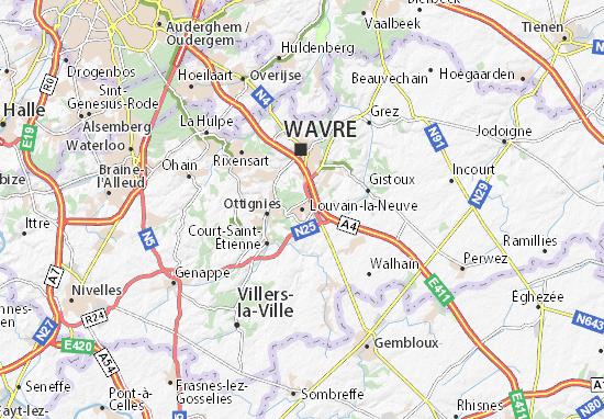 Kaart Plattegrond Louvain-la-Neuve