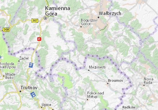 Mapa Mieroszów