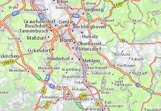 Königswinter Map: Detailed maps for the city of Königswinter ...