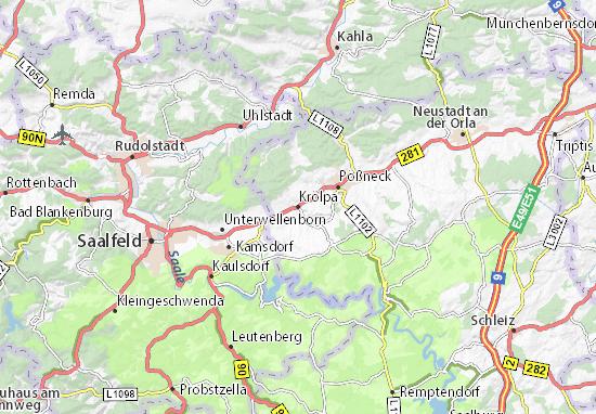 Mapa Plano Krölpa