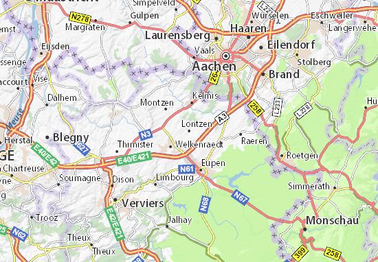 Carte-Plan Lontzen