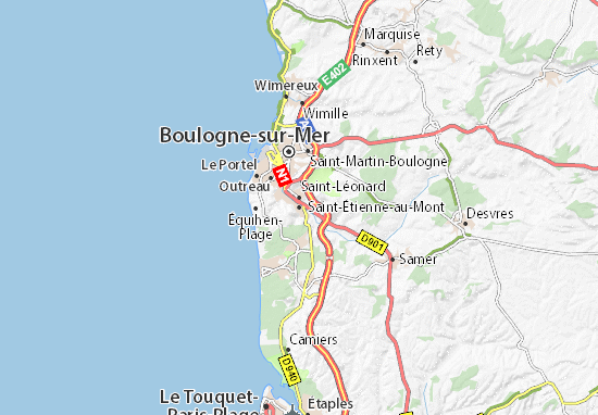 Mapas-Planos Saint-Étienne-au-Mont