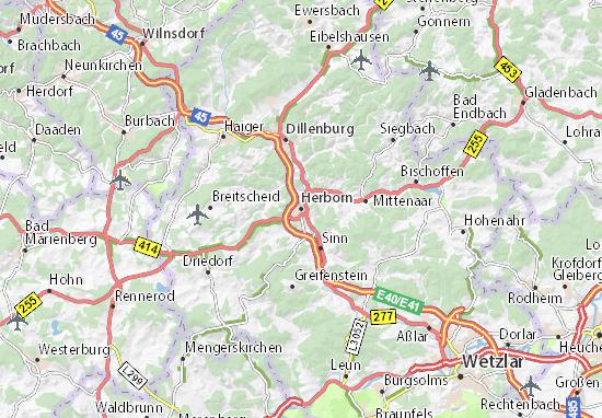 Karte Stadtplan Herborn