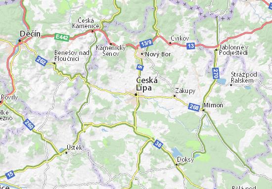Carte-Plan Česká Lípa