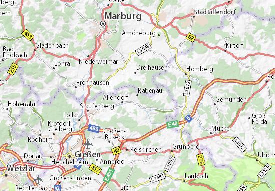 Rabenau Map