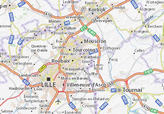 Wattrelos Map