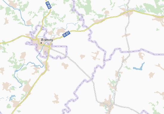 Mapa Plano Pohozha Krynytsya