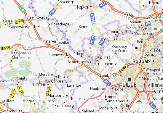 Carte-Plan Nieppe