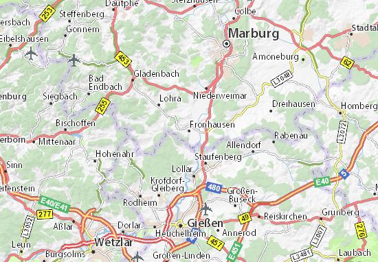 Fronhausen Map