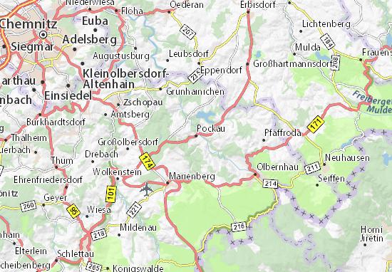 Pockau Map