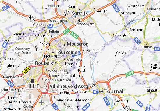 Kuurne Carte Belgique.Carte Detaillee Evregnies Plan Evregnies Viamichelin