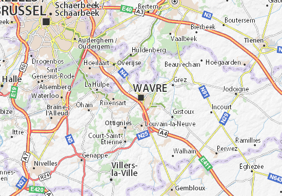 Wavre Map